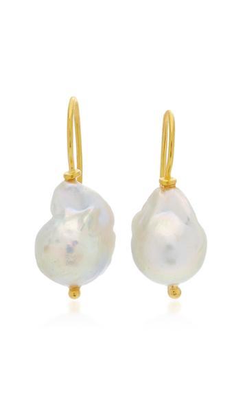 Ranjana Khan Small Single Pearl Earrings
