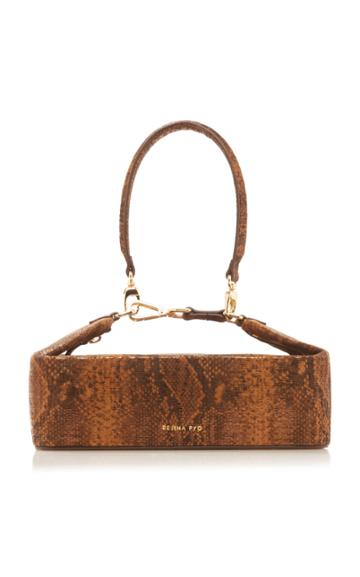 Moda Operandi Rejina Pyo Olivia Snake-effect Leather Top Handle Bag