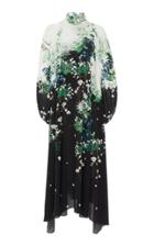 Givenchy Floral-print Silk-chiffon Maxi Dress