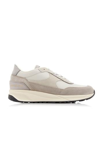 Common Projects Track Classic Suede, Nubuck And Nylon Sneakers