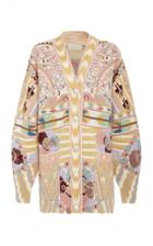 Etro Embroidered Wool-knit Cardigan