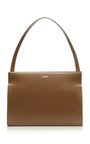 Jil Sander Journal Leather Shoulder Bag