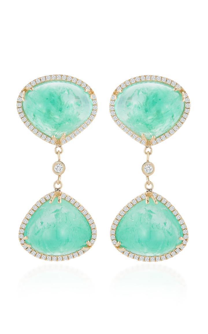 Mateo X Muzo 14k Gold Emerald Earrings