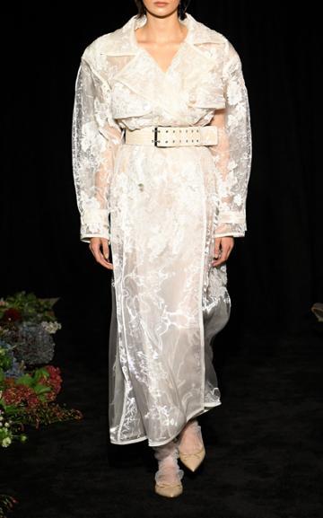 Moda Operandi Danielle Frankel Allegra Tulle Trench Size: Xs/s