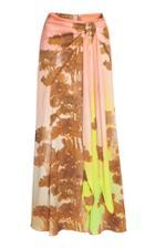 Peter Pilotto Hammered Silk-blend Tie Skirt
