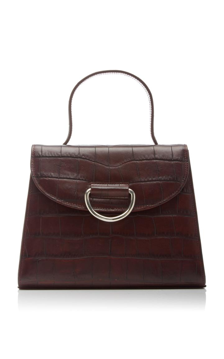 Moda Operandi Little Liffner Lady Croc-effect Leather Top Handle Bag
