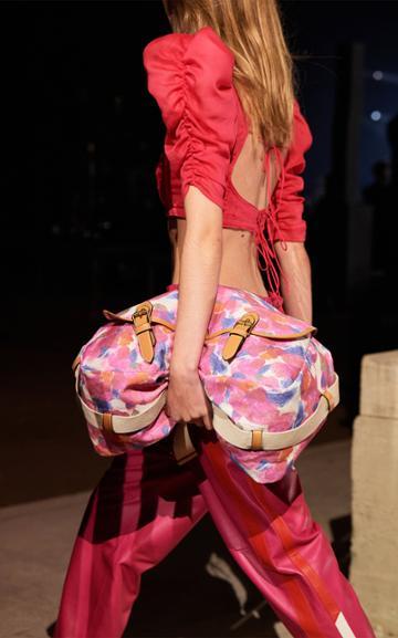 Moda Operandi Isabel Marant Luffy Floral Printed Canvas Messenger Bag