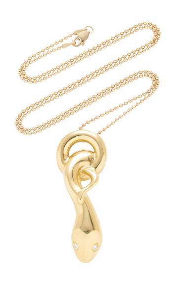 Christina Alexiou Snake Charm Necklace