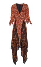 Altuzarra Elvira Contrast Print Silk Dress