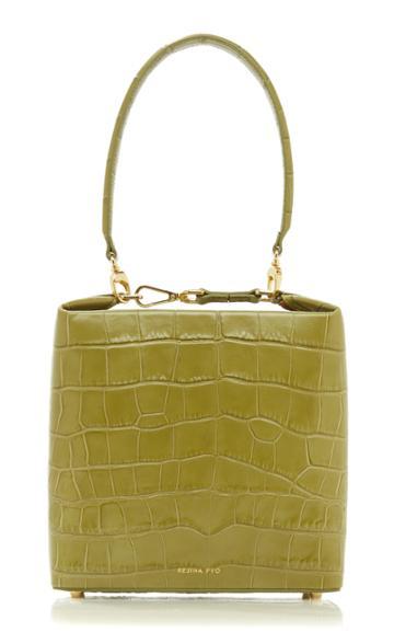 Moda Operandi Rejina Pyo Lucie Croc-effect Leather Top Handle Bag