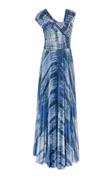 Semsem Tie Dye Patterned Gown