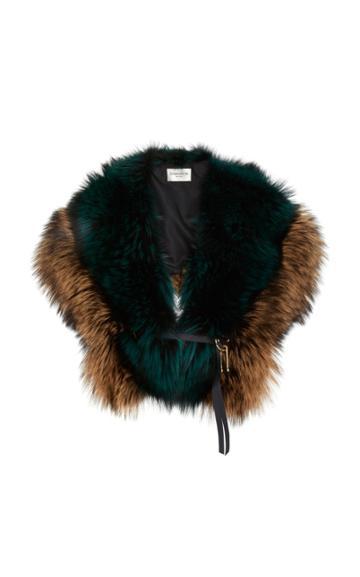 Demarson Serena Fox Fur Shawl
