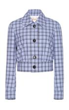 Marni Plaid Virgin Wool Cropped Jacket