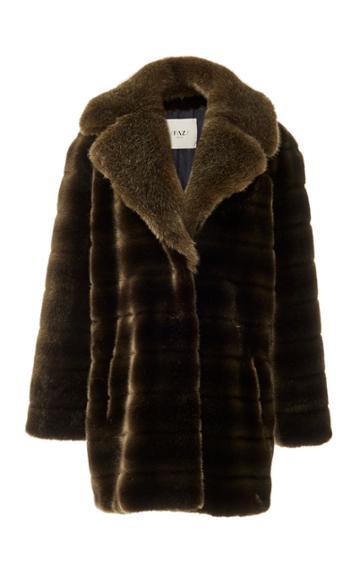 Faz Not Fur Faux Fur Swagger Coat