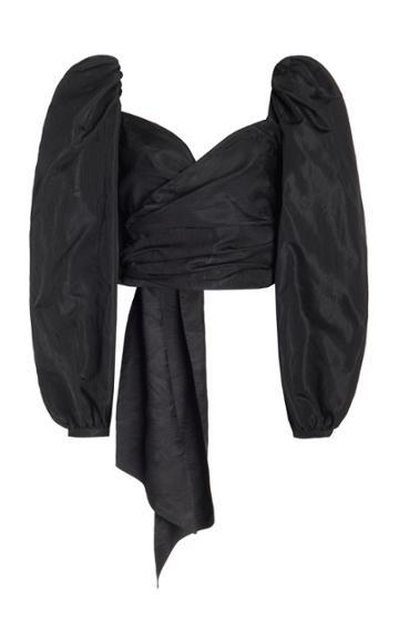 Moda Operandi Costarellos Mabelle Moir Off-the-shoulder Wrap Top