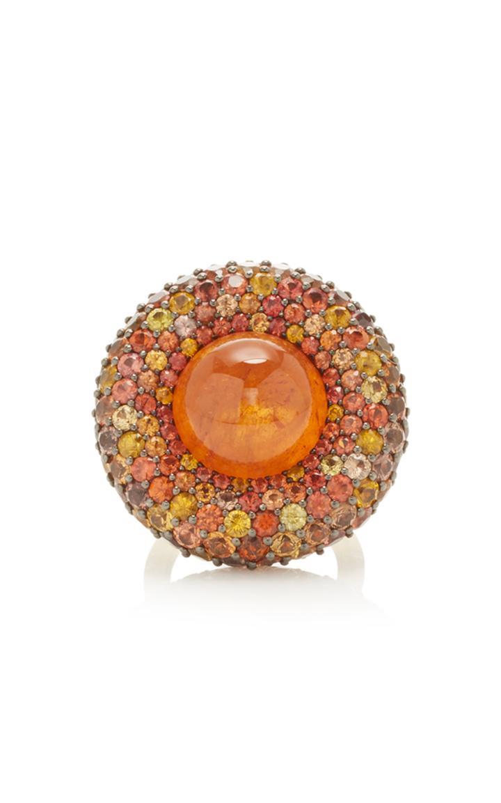 Vram One-of-a-kind Mandaring Garnet And Sapphire Ring