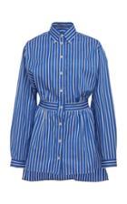 Prada Striped Cotton-poplin Shirt Size: 36