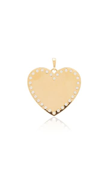 Ashley Mccormick Heart 18k Gold And Diamond Necklace