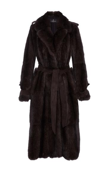 J. Mendel Sable Trench Coat