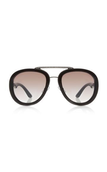 Miu Miu Aviator Acetate Sunglasses