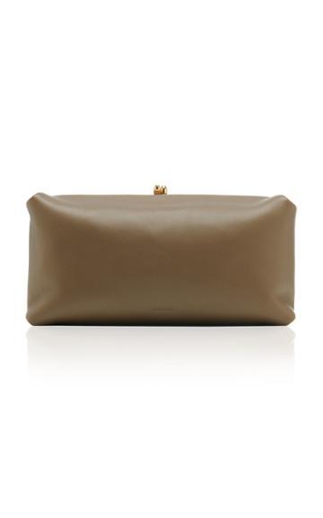 Jil Sander Goji Soft Leather Clutch