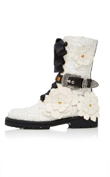 Fausto Puglisi Floral Bootie