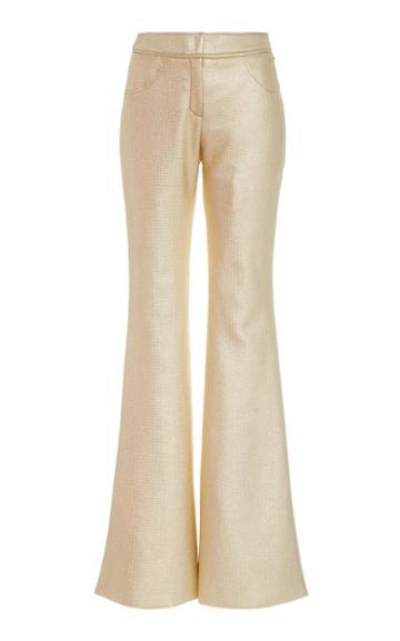 Moda Operandi Kalmanovich Metallic Flared-leg Trousers