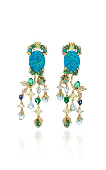 Anabela Chan Blue Passiflora Earrings