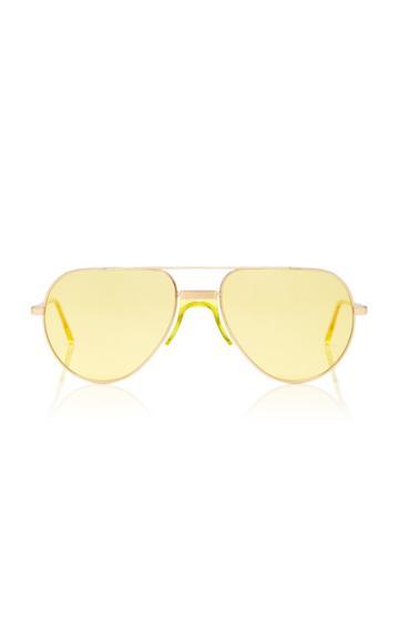 Andy Wolf Eyewear Yellow-tinted Metal Aviator Sunglasses