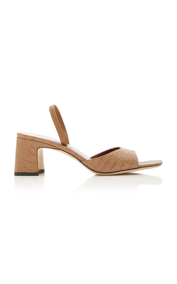 Moda Operandi Staud Embossed Cassie Sandals