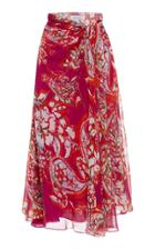 Prabal Gurung Silk Sarong Skirt