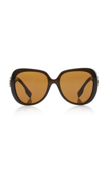 Burberry Round Cat-eye Acetate Sunglasses