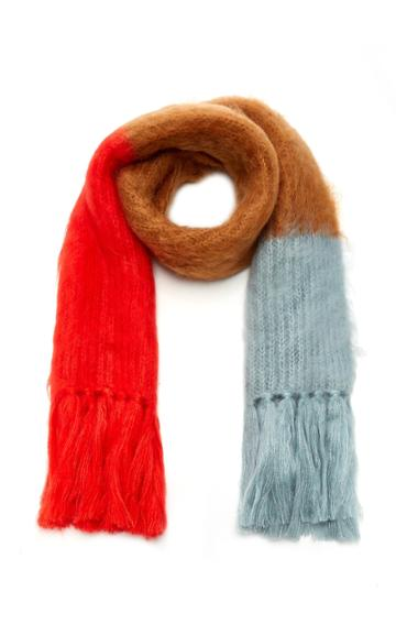 Burberry Coloblocked Fringed Mohair-silk Scarf