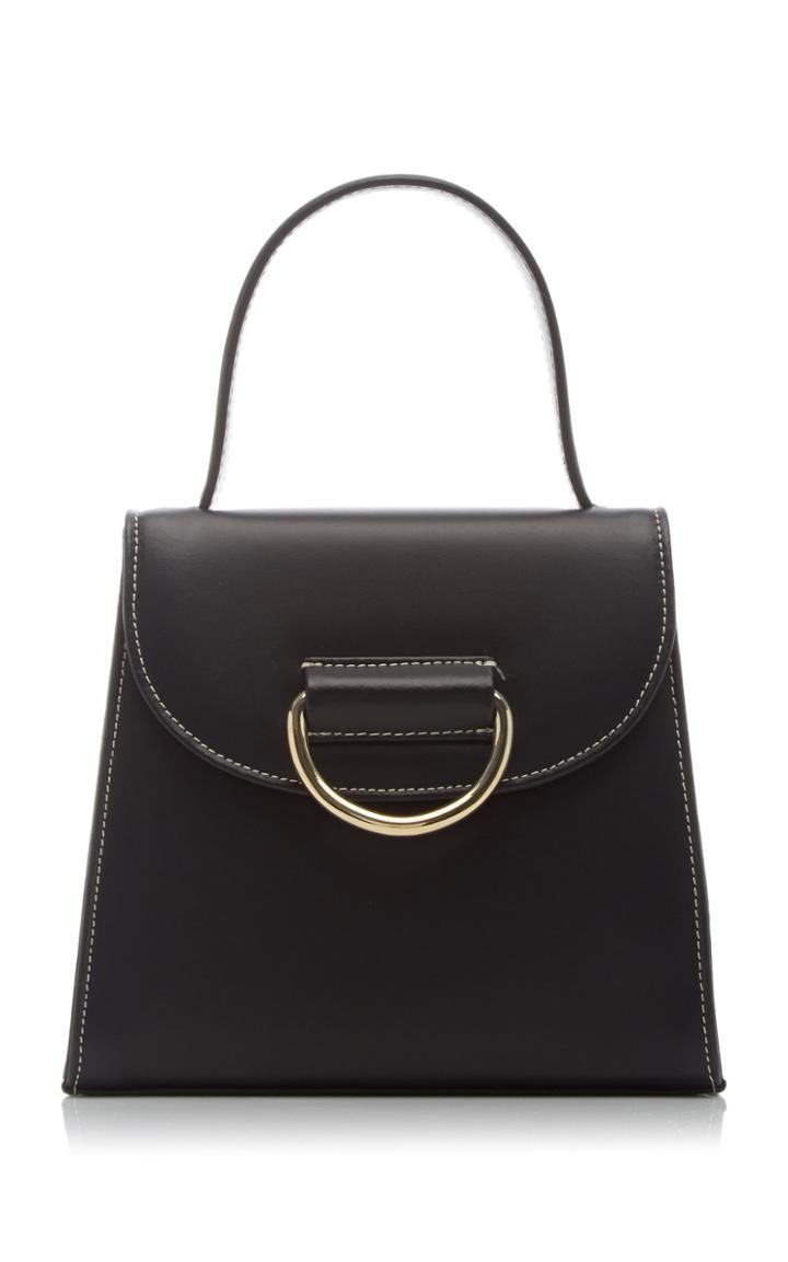 Moda Operandi Little Liffner Little Lady Contrast Stitch Leather Top Handle Bag