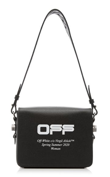 Off-white C/o Virgil Abloh Logo-print Leather Messenger Bag