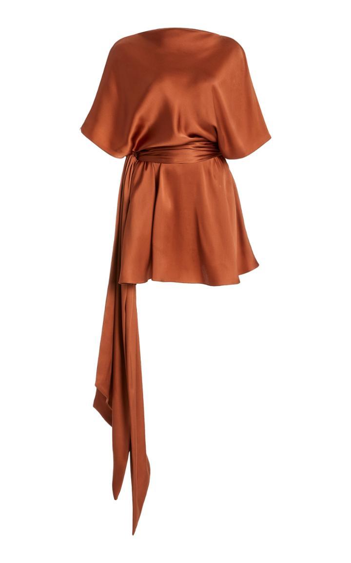 Moda Operandi Brandon Maxwell Belted Satin Dress
