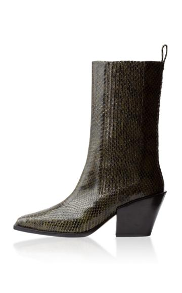 Aeyde Ari Embossed Leather Boots