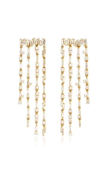 Moda Operandi Suzanne Kalan 18k Yellow Gold Fringe Dangle Earring