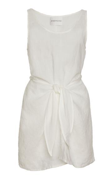 Anemone Sleeveless Ramie Linen Wrap Dress