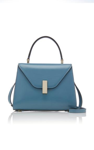 Valextra Iside Medium Smooth Leather Top Handle Bag