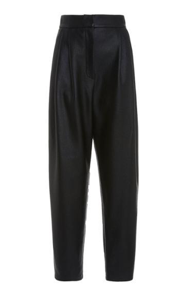 Moda Operandi Kalmanovich Satin Pleated Pants