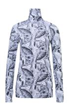 Dorothee Schumacher Cat Nip Printed Long Sleeve Turtleneck Top