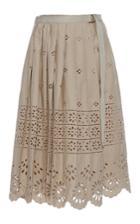 Sea Wrap Eyelet Skirt