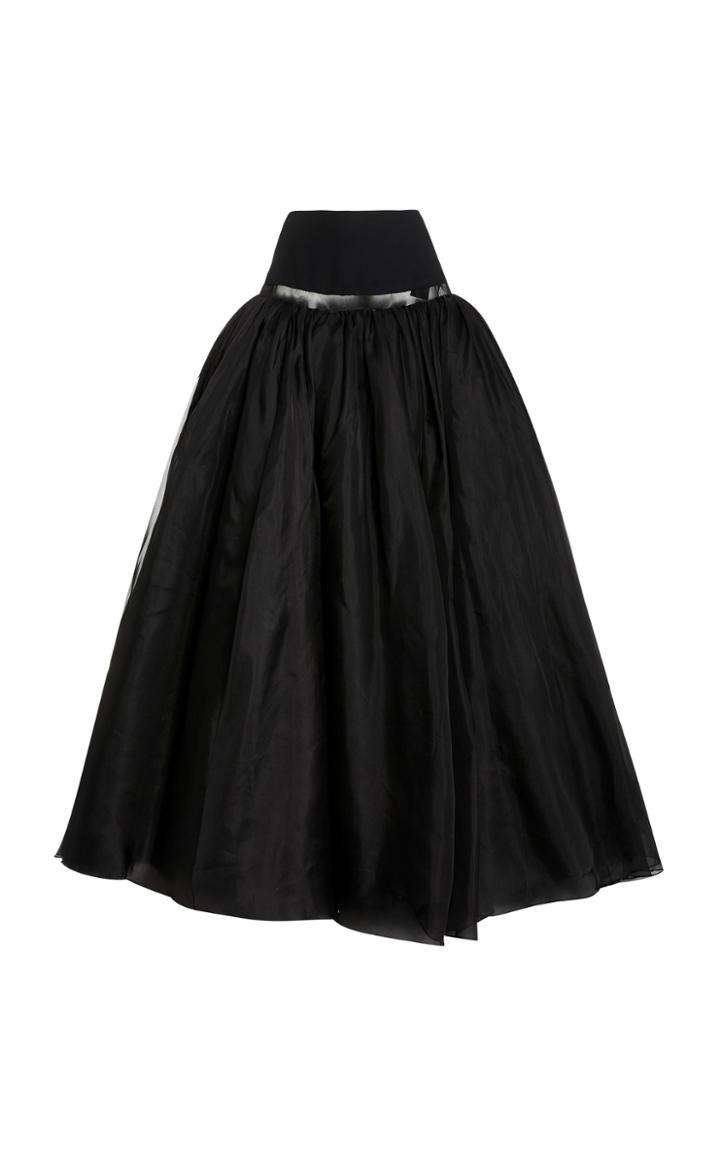 Moda Operandi Brandon Maxwell Banded Waist Ballgown Skirt