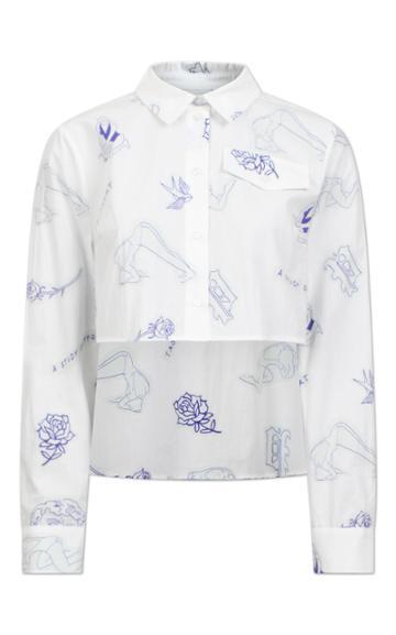 Baum Und Pferdgarten Mayuri Cropped Button Down Shirt