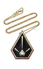 Ele Karela One-of-a-kind Blaze Pyramid Pendant