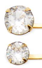 Jennifer Behr Set-of-five Gia Crystal-embellished Bobby Pins