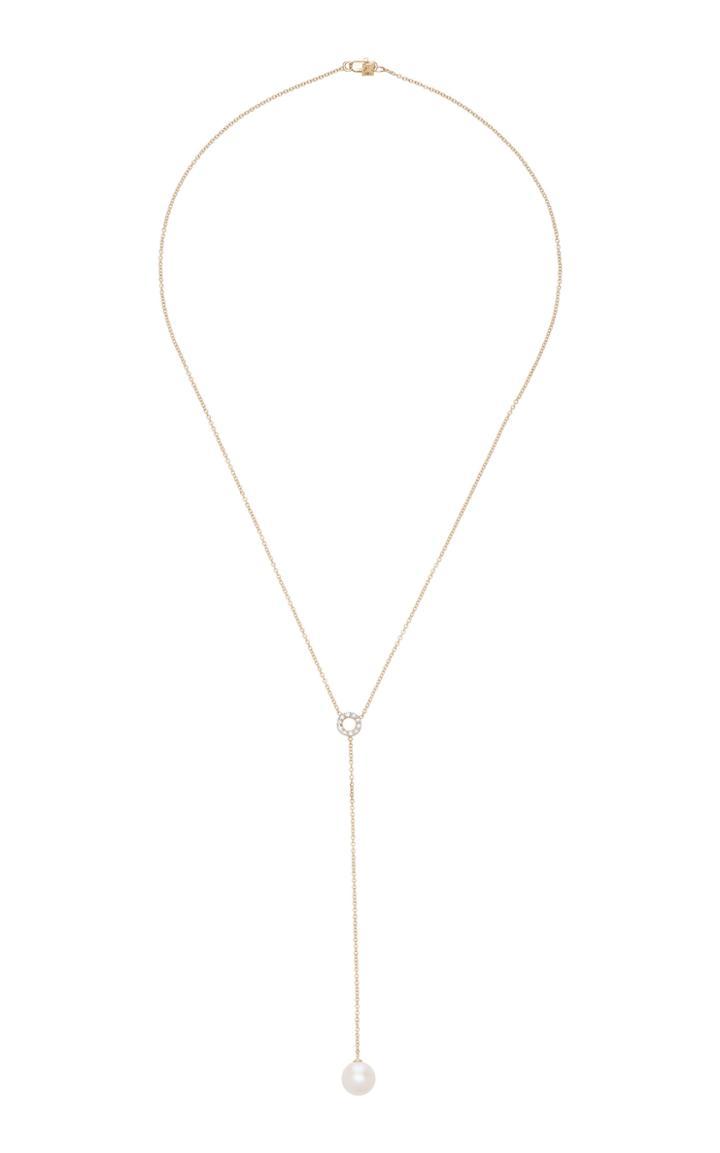 Mateo Circ Du Pearl Lariat Diamond & Pearl Necklace