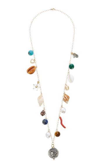 Haute Victoire Medallion 15-charm Shell Necklace