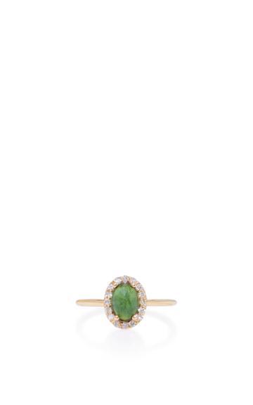 Marlo Laz 14k Gold Diamond And Tourmaline Ring
